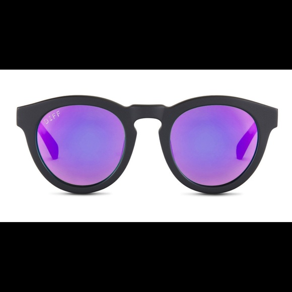 e3d3e735b6 Diff Eyewear Accessories - DIME II- Matte Black Frame- Purple Mirror Lens